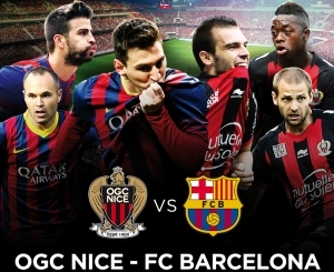 Football, match amical OGC Nice - FC Barcelona